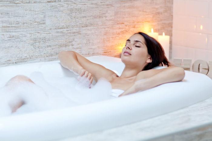 расслабление беременной в ванне